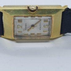 Vintage: RELOJ TIMEX ELECTRIC PLACADO CON ORÓ 18K. Lote 270258223