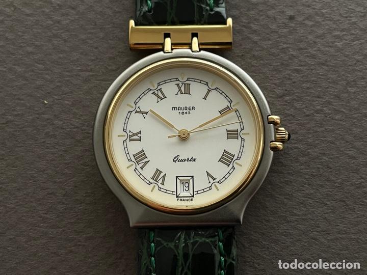 MAURER 1843 QUARTZ. 35MM. FUNCIONA. (Relojes - Relojes Vintage )