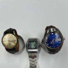 Vintage: 3 RELOJES CUERDA MANUAL, FUNCIONAN. Lote 271423143
