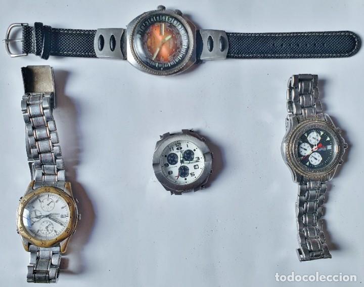 SEIKO - FESTINA - ORIENT - TIME FORCE - LOTE DE 4 RELOJES QUARTZ PARA REPARAR (Relojes - Relojes Vintage )