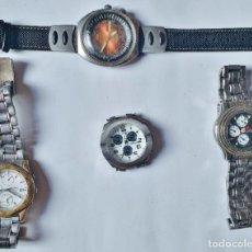 Vintage: SEIKO - FESTINA - ORIENT - TIME FORCE - LOTE DE 4 RELOJES QUARTZ PARA REPARAR. Lote 276278773