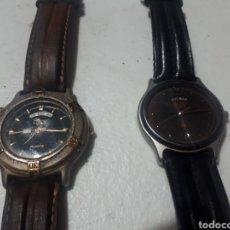 Vintage: PAREJA RELOJES LOTUS Y SEIKO CORREAS DE PIEL PARA REPARAR. Lote 276939683
