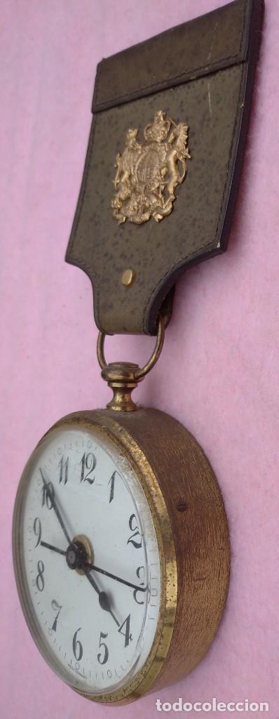 Vintage: Reloj con Escudo Imperial de Inglaterra, Mediados S. XX // VINTAGE PARED MILITAR HITLER QUARTZ NAZI - Foto 3 - 276961033