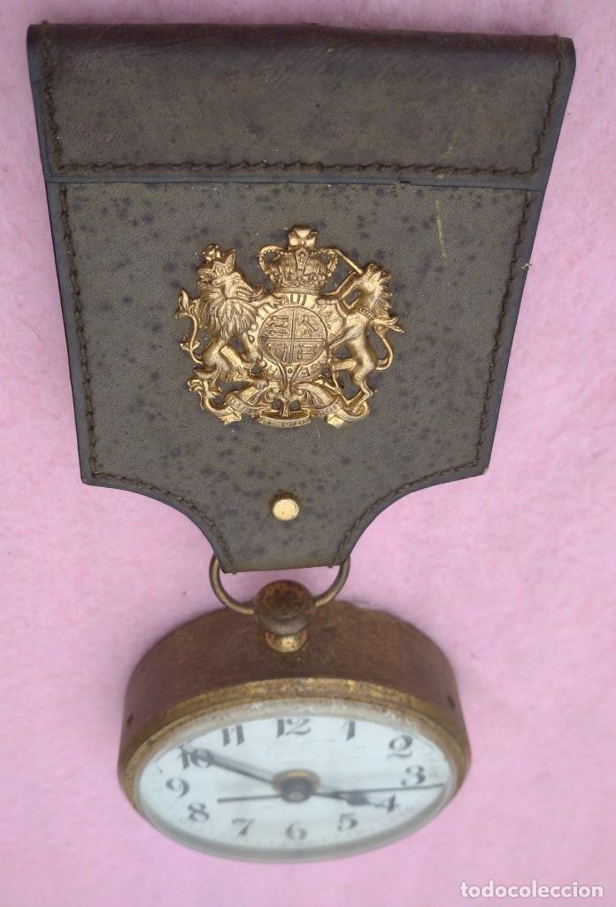 Vintage: Reloj con Escudo Imperial de Inglaterra, Mediados S. XX // VINTAGE PARED MILITAR HITLER QUARTZ NAZI - Foto 4 - 276961033