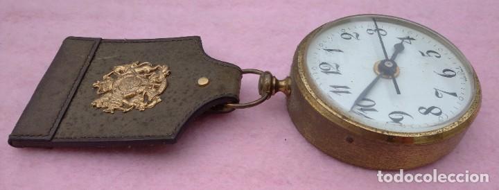 Vintage: Reloj con Escudo Imperial de Inglaterra, Mediados S. XX // VINTAGE PARED MILITAR HITLER QUARTZ NAZI - Foto 5 - 276961033