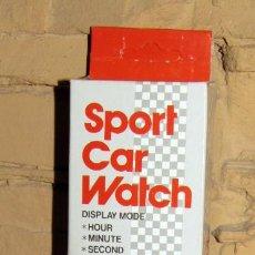 Vintage: CAR WATCH. RELOJ TRANSFORMABLE EN COCHE. HONG KONG. NUEVO Y EN SU CAJA ORIGINAL. AÑOS 80. Lote 277133263
