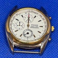 Vintage: RELOJ PULSAR WORLD TIMER DE CUARZO VINTAGE NO FUNCIONA. Lote 277730118