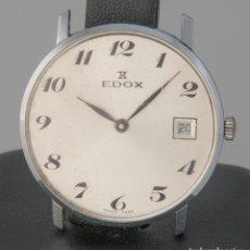 Vintage: EDOX VINTAGE STEEL 33MM CALIBER PESEUX 7046. Lote 277748838