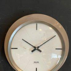 Vintage: RELOJ DE PARED VINTAGE PHIPIS ELÉCTRICA CLOCK. Lote 285055628
