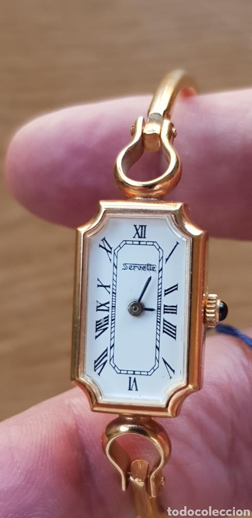 RELOJ SERVETTE,BRAZALETE,CHAPADO,VINTAGE,SRA. (Relojes - Relojes Vintage )