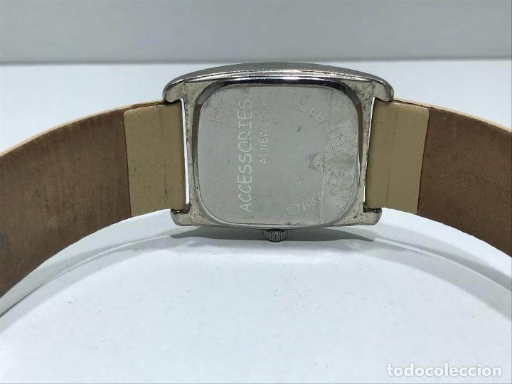 Vintage: Reloj de pulsera con movimiento de Quartzo con correa - Funcionando - Foto 5 - 286253163