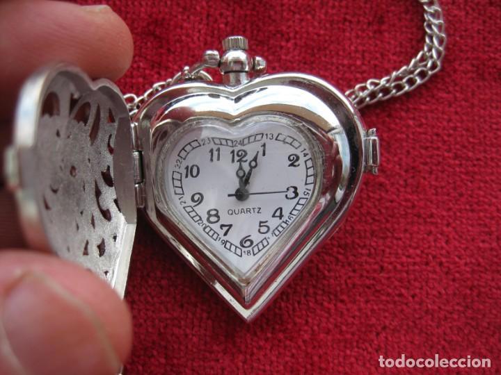 RELOJ DE COLGAR O BOLSILLO, DE CUARZO, - SE ENVÍA FUNCIONANDO Y CON UNA CADENA DE REGALO. (Relojes - Relojes Vintage )