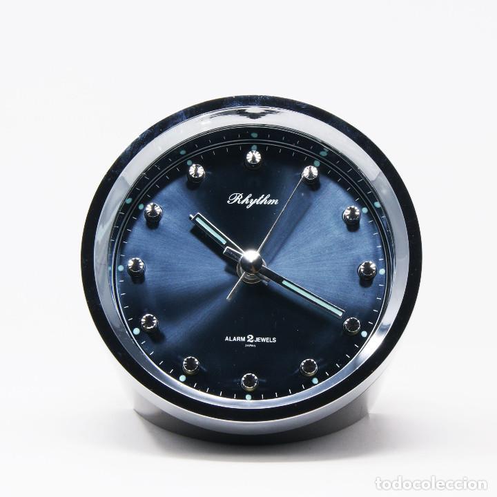 Vintage: Reloj despertador space age Rhythm 51116 NOS New Old Stock - Foto 2 - 287677203