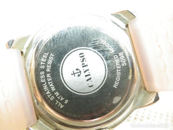 Vintage: PRECIOSO Y ALEGRE RELOJ PARA DAMA CALYPSO DE LOTUS ACERO INOX SUMERGIBLE 50M - Foto 9 - 289605603