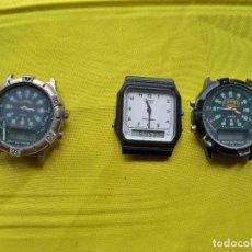 Vintage: TRES RELOJES QUARTZ, CAMEL Y CASIO. Lote 290664998