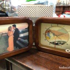 Vintage: MARCO PORTAFOTO Y RELOJ DE MESA - EN CAJA ORIGINAL. Lote 295308533
