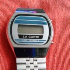 Vintage: RELOJ DIGITAL LA CARTE. NO FUNCIONA. Lote 296721848