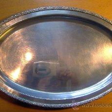 Vintage: BANDEJA VINTAGE METAL PLATEADO 30X22. Lote 26771085