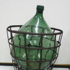 Vintage: ANTIGUO GARRAFON GRAN TAMAÑO SIN SU CUNA DE HIERRO.. Lote 26913901