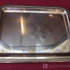 Vintage: PRECIOSA ANTIGUA BANDEJA EN MÉTAL PLATEADO. Lote 26504219