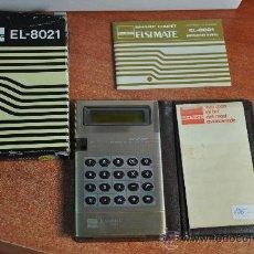 Vintage: CALCULADORA SHARP EL-8021 MADE IN JAPAN EN CAJA. Lote 21638777