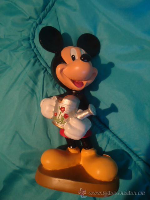 Vintage: FIGURA DE RESINA DISNEY MICKEY MOUSE DISNEY, PEANA MADERA - Foto 2 - 26449689