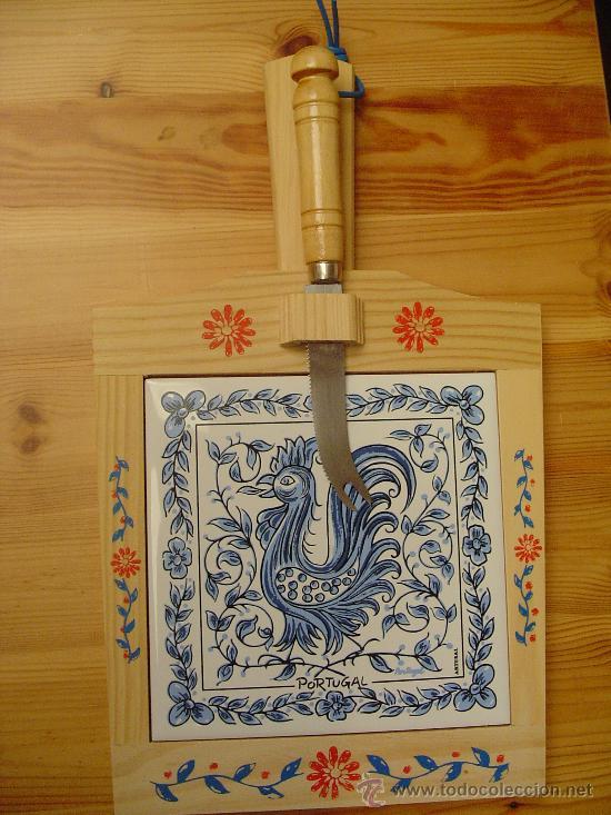 Tabla de madera de cortar queso con cuchillo y comprar en todocoleccion 27082158 - Cuchillo cortar queso ...