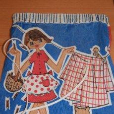 Vintage: BOLSA DE TELA VINTAGE AÑOS 60 PARA PINZAS DE LA ROPA .CHULISIMA . Lote 27705683
