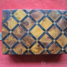 Vintage: CAJA DE MADERA CON TARACEA. Lote 28043566