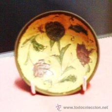 Vintage: MINI BANDEJA / PLATO - DECORADA CON FLORES - METAL - ORIGINAL DE LA INDIA - AÑOS 70 - R - EP. Lote 28500309