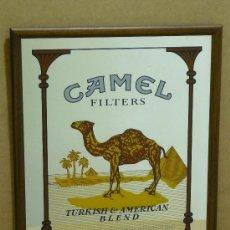 Vintage: ESPEJO ENMARCADO CON PUBLIDAD CAMEL. 51 CM. X 43 CM. .. Lote 28506591