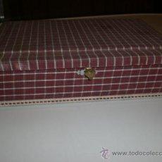 Vintage: COSTURERO DE MADERA FORRADO EN TELA. AÑOS 60. NUEVO A ESTRENAR. SUPER VINTAGE.. Lote 29165239