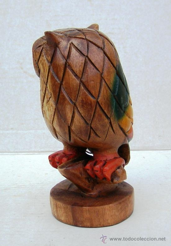 Vintage: buho de madera tallado silbato, vintage - Foto 2 - 113859287