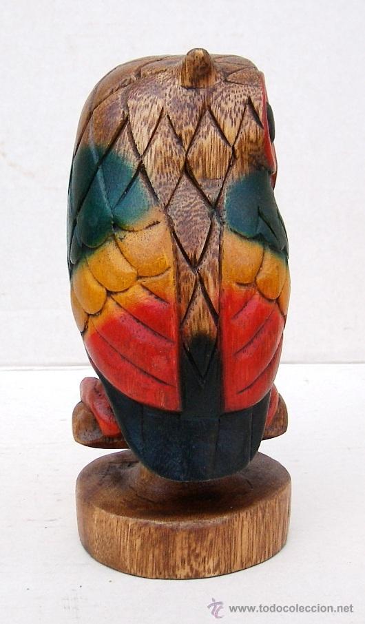 Vintage: buho de madera tallado silbato, vintage - Foto 3 - 113859287