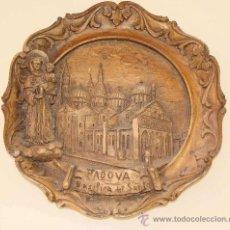 Vintage: PLATO DE RESINA EN RELIEVE. PADOVA, ITALIA. SANTUARIO SAN ANTONIO DE PÁDUA. RECUERDO / SOUVENIR. Lote 170080472