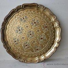 Vintage: BANDEJA DE MADERA POLICROMADA DE FLORENCIA (ITALIA). Lote 29933729