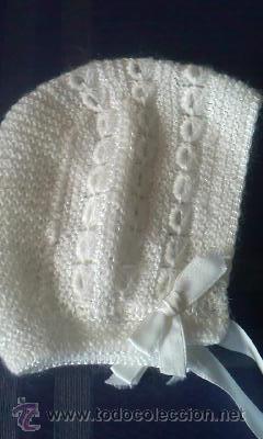Vintage: Precioso gorrito de lana para bebe de los 70 - Foto 2 - 30343152
