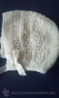 Vintage: Precioso gorrito de lana para bebe de los 70 - Foto 3 - 30343152