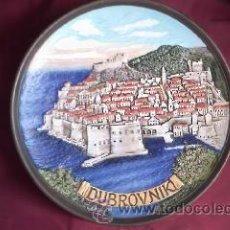 Vintage: PLATO DECORATIVO PINTADO A MANO .DUBROVNIK. Lote 30356455