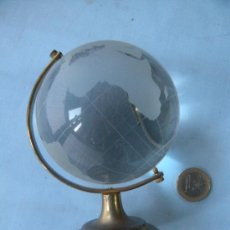 Vintage: MAPAMUNDI CON BOLA DE CRISTAL GLOBO TERRAQUEO BOLA DEL MUNDO. Lote 30638506