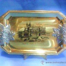 Vintage: BANDEJA METAL - PALMA DE MALLORCA / CATEDRAL - DORADA / PLATEADA - AÑOS 80. Lote 30699365