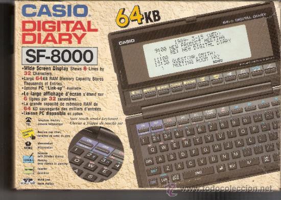 Vintage: CASIO DIGITAL DIARY SF- 8000: 64KB.CON CAJA Y MANUAL EN ESPAÑOL. - Foto 9 - 31849328