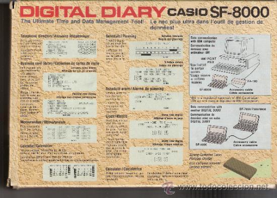 Vintage: CASIO DIGITAL DIARY SF- 8000: 64KB.CON CAJA Y MANUAL EN ESPAÑOL. - Foto 10 - 31849328