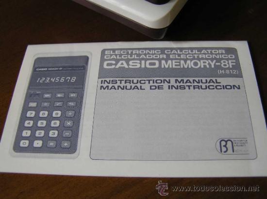 Vintage: CALCULADORA CASIO MEMORY - 8F H812 - DE LOS AÑOS 70 MADE IN JAPAN SIN USAR - Foto 8 - 31611923