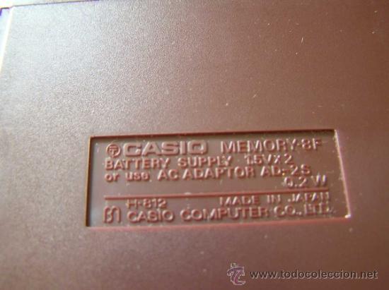 Vintage: CALCULADORA CASIO MEMORY - 8F H812 - DE LOS AÑOS 70 MADE IN JAPAN SIN USAR - Foto 12 - 31611923