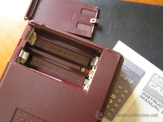 Vintage: CALCULADORA CASIO MEMORY - 8F H812 - DE LOS AÑOS 70 MADE IN JAPAN SIN USAR - Foto 21 - 31611923