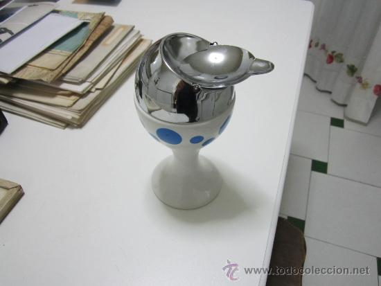 Vintage: Cenicero de porcelana y metal - medida 20 x 10 cm. - Foto 2 - 31736801