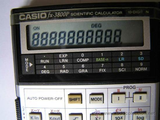 Vintage: CALCULADORA CASIO fx-3800P SCIENTIFIC CALCULATOR 10-DIGIT N CIENTIFICA PROGRAMABLE. - Foto 5 - 54643835