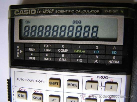 Vintage: CALCULADORA CASIO fx-3800P SCIENTIFIC CALCULATOR 10-DIGIT N CIENTIFICA PROGRAMABLE. - Foto 6 - 54643835