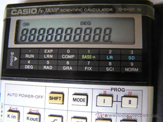 Vintage: CALCULADORA CASIO fx-3800P SCIENTIFIC CALCULATOR 10-DIGIT N CIENTIFICA PROGRAMABLE. - Foto 9 - 54643835